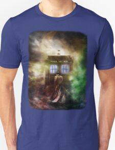 Abstract Color Hazy Police Public Call Box T-Shirt