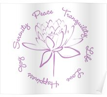 Serenity Tranquility Lotus (Lavender) Poster