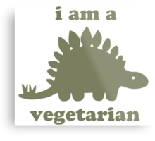 Vegetarian Stegosaurus Dinosaur  Metal Print