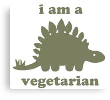 Vegetarian Stegosaurus Dinosaur  Canvas Print