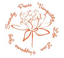 Serenity Tranquility Lotus (Orange) by Makanahele