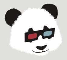 Panda Bear with 3D Glasses by TheShirtYurt