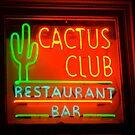 cactus club - neon sign by Babz Runcie