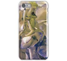 Blue And White Hydrangea Petals  iPhone Case/Skin