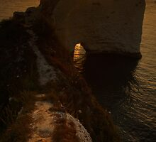 Sunrise at Old Harry Rocks by Ian Middleton