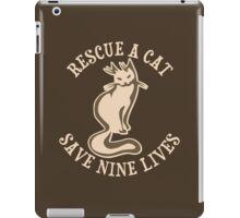 Rescue A Cat Save Nine Lives iPad Case/Skin