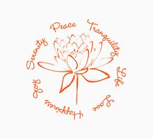 Serenity Tranquility Lotus (Orange) Unisex T-Shirt