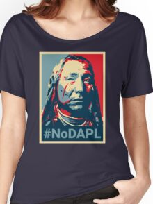 #NoDAPL - Stand With Standing Rock Women's Relaxed Fit T-Shirt