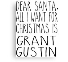 Grant Gustin Xmas Canvas Print
