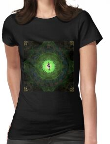 Green Tara Mantra- Protection from dangers and suffering. Womens Fitted T-Shirt