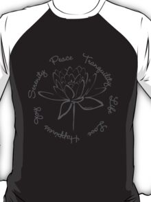 Serenity Tranquility Lotus (Smoke Grey) T-Shirt