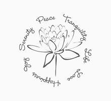 Serenity Tranquility Lotus (Smoke Grey) Unisex T-Shirt