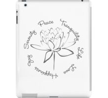 Serenity Tranquility Lotus (Smoke Grey) iPad Case/Skin