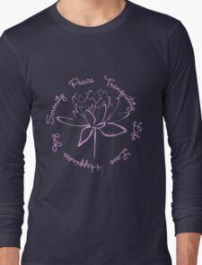 Serenity Tranquility Lotus (Lavender) Long Sleeve T-Shirt