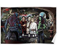 Guardians In A Galaxy Far, Far Away  Poster