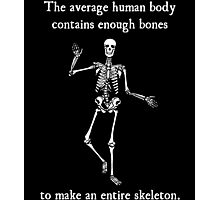 Skeleton Bones in the Average Human Body Photographic Print