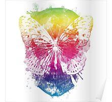 butterflyed skull Poster