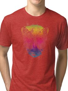 butterflyed skull Tri-blend T-Shirt