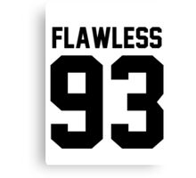 Flawless '93 - Jersey Tee  Canvas Print