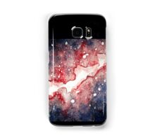 Watercolor Galaxy- Red and Blue Stars Samsung Galaxy Case/Skin