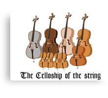The Celloship of the String Canvas Print