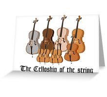 The Celloship of the String Greeting Card