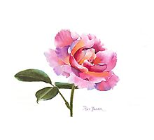 Rose Watercolor Photographic Print