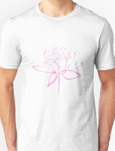Lotus Flower Calligraphy (Pink) T-Shirt