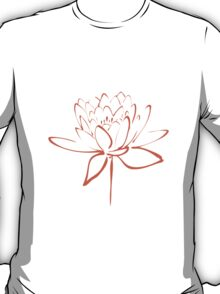 Lotus Flower Calligraphy (Orange) T-Shirt
