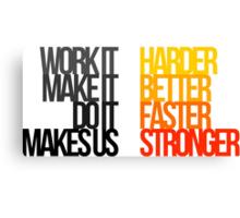Harder Better Faster Stronger (Light Background) Canvas Print