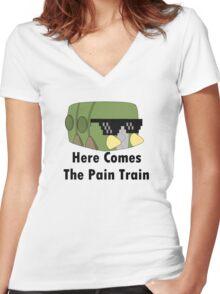 Charjabug T-Shirt Women's Fitted V-Neck T-Shirt