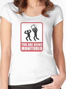 You Are Being Monitored Women's Fitted Scoop T-Shirt