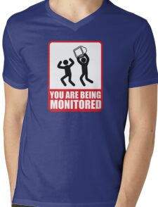 You Are Being Monitored Mens V-Neck T-Shirt