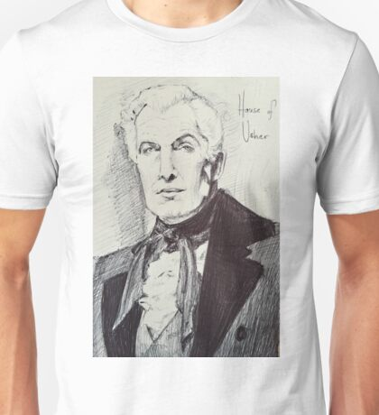 Vincent Price House of Usher Unisex T-Shirt