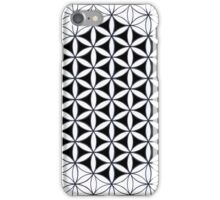 Flower of Life, classic black and white pattern 2 iPhone Case/Skin