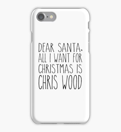 Chris Wood XMas iPhone Case/Skin