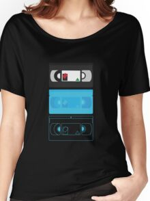 VHS Mixed pattern (black) Women's Relaxed Fit T-Shirt