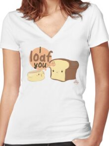 English Muffin Women's Fitted V-Neck T-Shirt