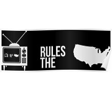 Television Rules The Nation (USA) (Dark Background) Poster