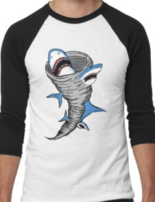 Shark Tornado Men's Baseball ¾ T-Shirt