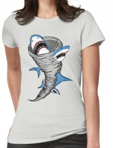 Shark Tornado Womens Fitted T-Shirt