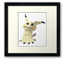 I'm not Pikachu, I'm Mimikyu w/o Outlines Framed Print