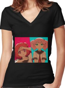 Akari x Chinatsu - The Bad Touch Women's Fitted V-Neck T-Shirt
