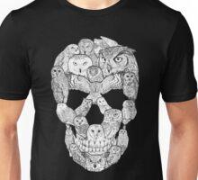 Owl Filled Skull Unisex T-Shirt