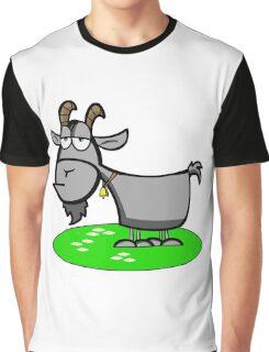Funny Cartoon Goat  Graphic T-Shirt