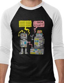 Robot Talk Men's Baseball ¾ T-Shirt