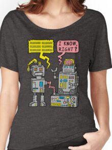 Robot Talk Women's Relaxed Fit T-Shirt