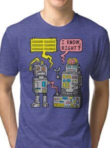 Robot Talk Tri-blend T-Shirt