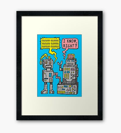 Robot Talk Framed Print