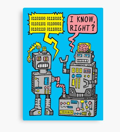 Robot Talk Canvas Print